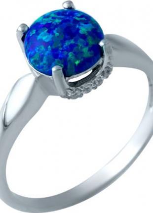 Серебряное кольцо SilverBreeze с опалом (1920183) 18 размер
