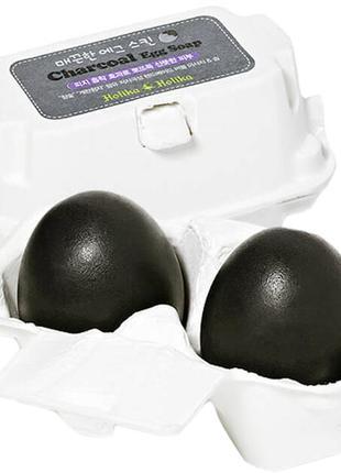 Holika holika charcoal egg soap черное мыло