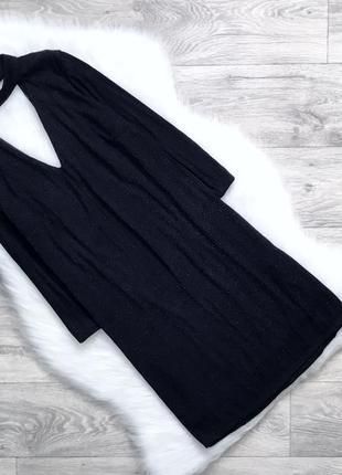 Платье с чекером с люрексовой нитью