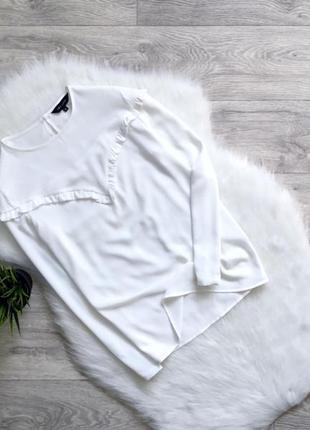 Блуза/рубашка с рюшами в зоне декольте