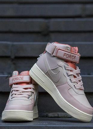 Кроссовки nike air force 1 high pink