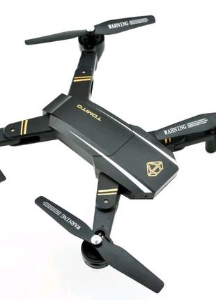 Квадрокоптер складной c WiFi Камерой, летающий дрон на пульте,вай