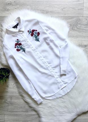 Шифоновая рубашка/блуза с вышивкой