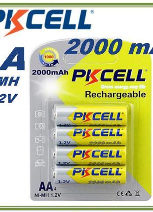 Отличные аккумуляторы AA 2000mAh PKCELL Ni-MH аналог Eneloop