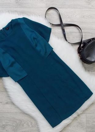 Платье изумрудного цвета (плотное)