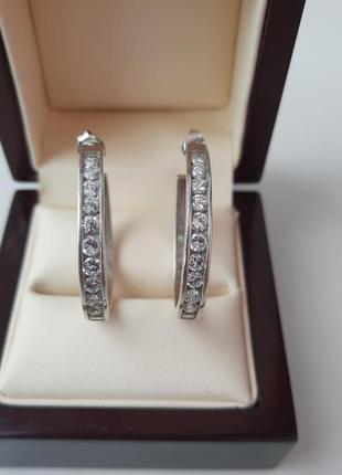 Серьги серебро 925° цикрон
