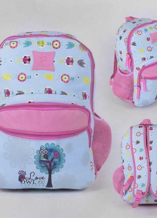 Рюкзак школьный 43515 мягкая спинка 1 отделение, 2 кармана