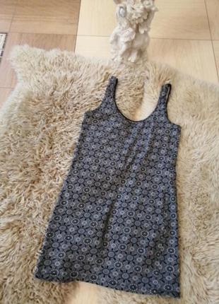 Короткое трикотажное платье-майка. мини платье трикотаж. 36/38