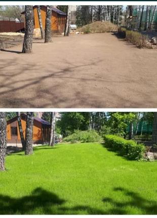 """Газон """"Удобренный""""+ удобрение для газона+семена газонная трава"""