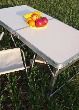 Раскладной Стол для пикника / кемпинга все цвета + ЗОНТ + 4 стула
