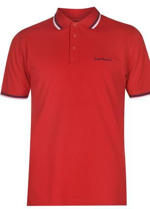 Рубашка поло футболка Pierre Cardin Polo Pique Red Оригинал Красн