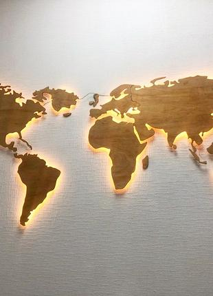 Карта Мира с подсветкой