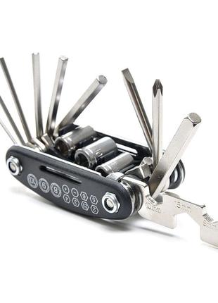 Мультитул 16в1 для велосипеда, велосипедный, велоинструмент, ключ