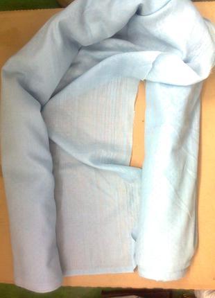 Льняная ткань (лен 100%; СССР; для штор и пр., светло-голубой цве