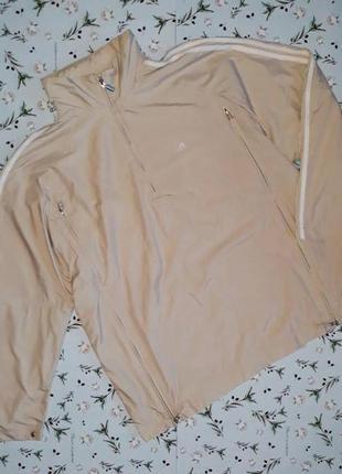 🎁1+1=3 женская бежевая стильная спортивная куртка анорак adida...