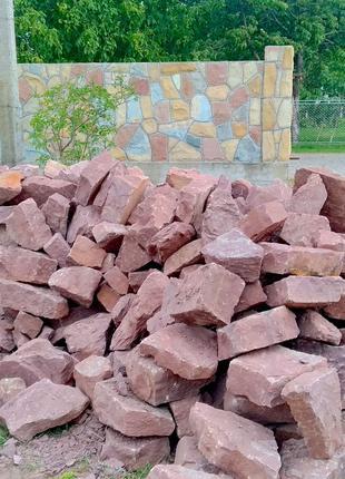 Камінь бутовий червоний