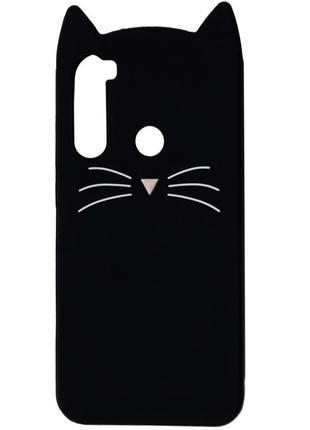 Силиконовая накладка 3D Cat для Xiaomi Redmi Note 8T