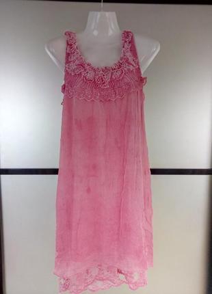 Легко воздушное платье сарафан ,италия,100%шелк