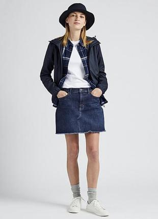 Джинсовая мини-юбка короткая юбка uniqlo