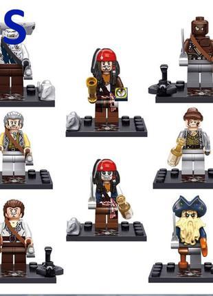 Фигурки, человечки пираты карибского моря лего, lego аналог
