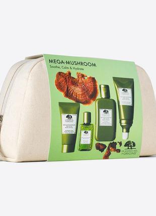 Origins mega-mushroom set набор для успокоения кожи с рейшей