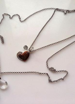Кулон подвеcка сердце сердечко в подарочной упаковке