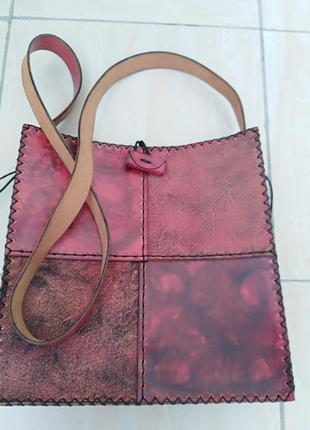 Мароканская   кожаная   сумка   ручной   работы.
