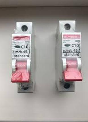 Автомат. вкл/выкл E.next e.mcb.stand.45.1.C10, 1р, С, 10А, 4.5 кА