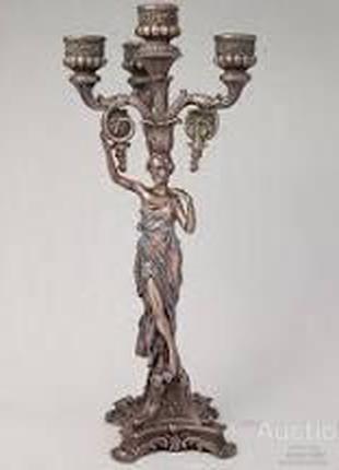 Подсвечник Veronese Античная Девушка 38 см