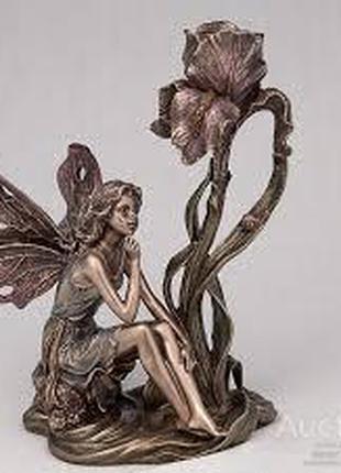 Подсвечник Veronese Фея с цветком 20 см