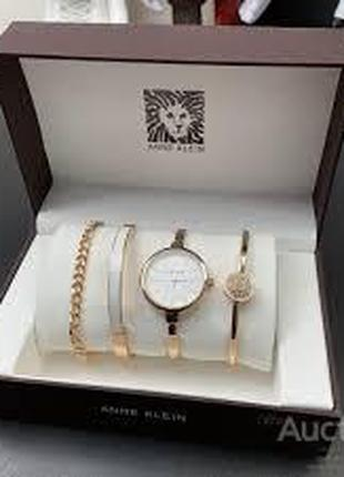 Подарочный Набор Anne Klein Bracelet/Watch/Bracelet with Diamond