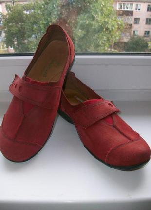 Туфли-мокасины женские натуральная замша padders р.38.5