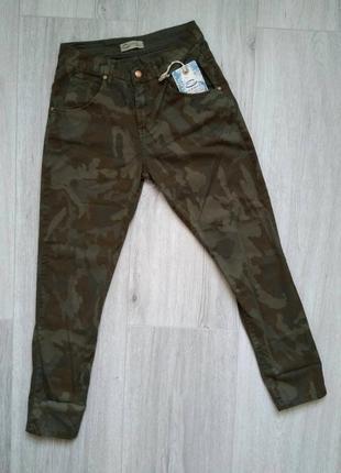 Брюки милитари штаны камуфляжные женские летние хаки