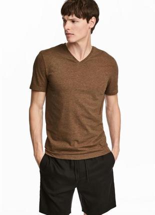 Однотонная футболка h&m, slim fit !