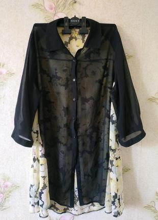 Женская блузка большого размера # лёгкая блузка #