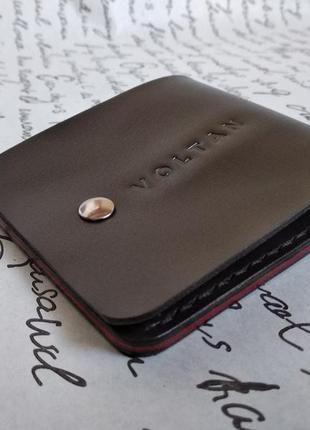 Кожаный кошелёк ручной работы