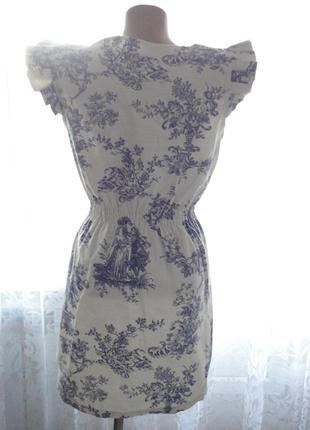 Платье под винтаж р.8 (ог 88) 100% плотный коттон