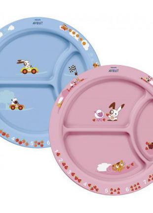 Порционная трехсекционная тарелка менажница Philips Avent