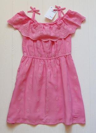 Новое нежное платье для девочки. н&м. размер 1.5-2 года