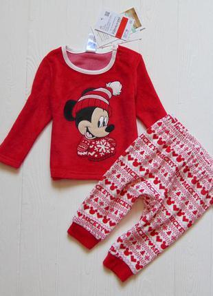 C&a. размер 3-6 месяцев. новая яркая велюровая пижама для мале...