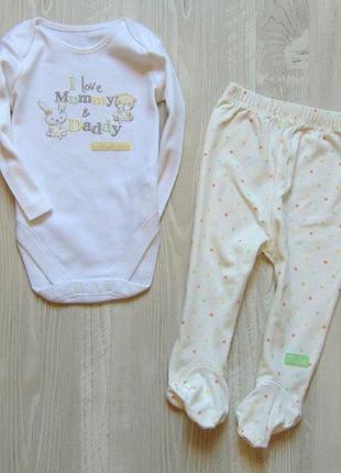 Нежный комплект для новорожденной или новорожденного. george. ...