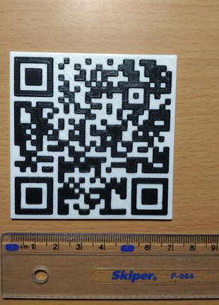 QR код qr code nametag визитки, 3d печать пластиком чпу лазер cnc