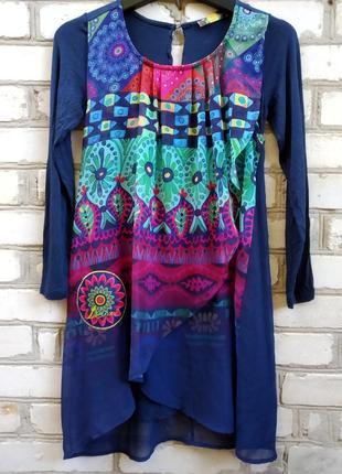 Двухслойное платье для девочки 11-12 лет