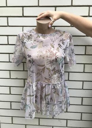 Цветочная блузка с баской new look