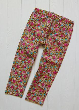 Zara. размер 2-3 года. новые яркие котоновые штаны для девочки