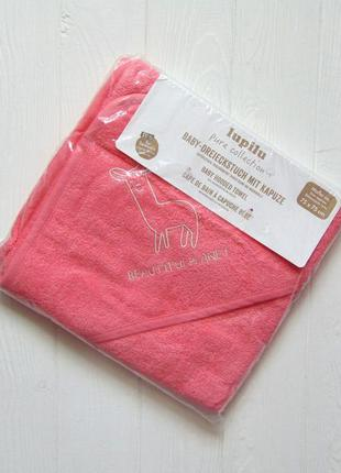 Lupilu. новое полотенце с уголком-капюшоном для новорожденной