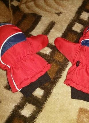 Зимние перчатки на 2-3 года