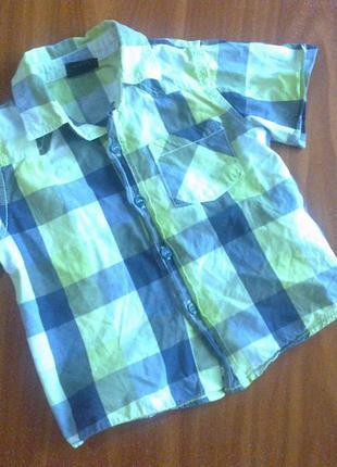 Рубашка с коротким рукавом на 1-2 года
