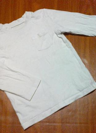 Белая кофта на 2-3 года