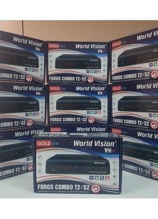 World Vision Foros Combo Цифровой ТВ видео тюнер приставка Т2 ...
